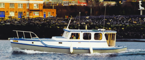 Noel Woodworth running the Edac in Prince Rupert harbour in 1999.